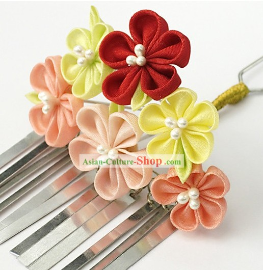 Traditional Japanese Kimono Hair Decoration Flower Set