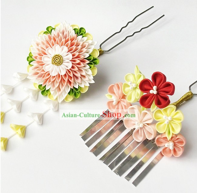 Handmade Japanese Kimono Hair Accessories for Women