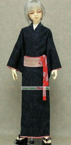 Traditional Japanese Kimono Clothing Set for Men
