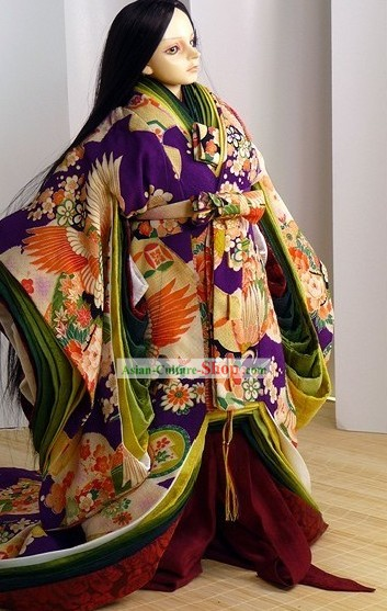 Ancient Japanese Emperor Costumes Complete Set for Men