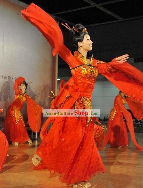 Ancient Xi Shi Palace Dance Costumes Complete Set
