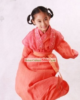 Traditional Chinese Hanfu Clothing Complete Set for Children