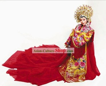 Ancient Chinese Empress Wedding Dress and Phoenix Crown Complete Set