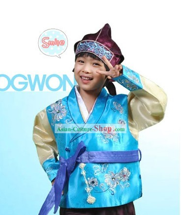 Traditional Korean Boy Hanbok Hat