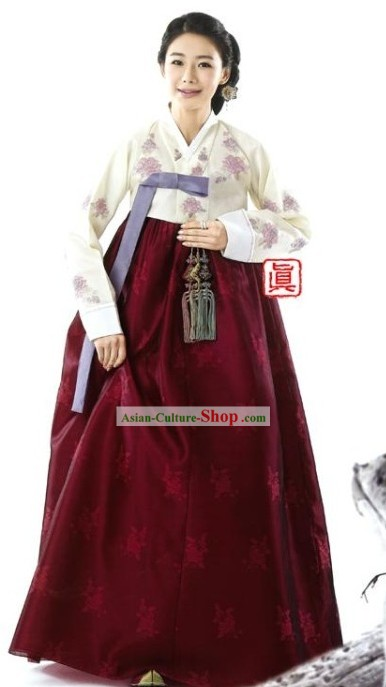 Traditional Korean Mother-in-law Hanbok Clothes Complete Set