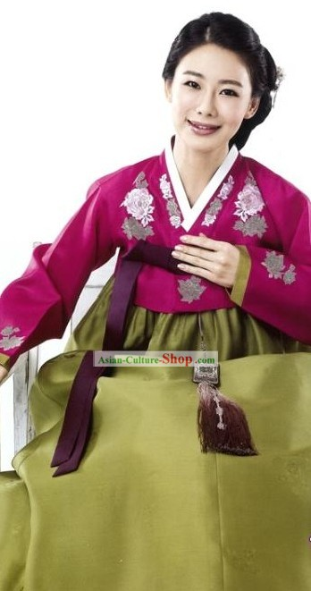 Traditional Korean Hanbok Dress