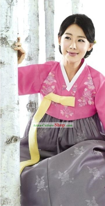 Traditional Korean Female Hanbok Clothes