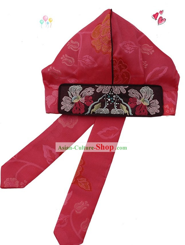 Traditional Korean Hanbok Hat for Boy