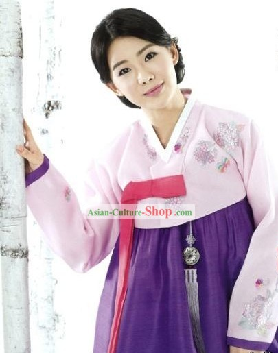 Traditional Korean Women Hanbok Clothing Complete Set