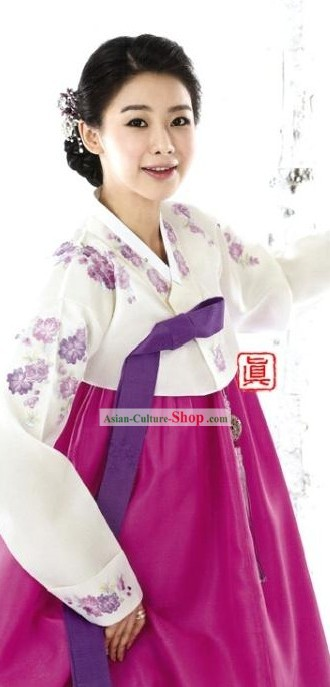 Traditional South Korean Women Hanbok Clothing Complete Set