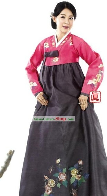 Traditional South Korean Mother Hanbok Clothing