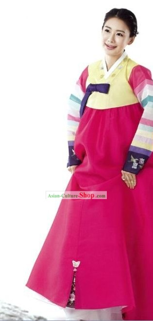 Traditional Korrean Colorful Women Hanbok Dress