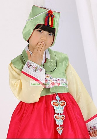 Traditional Korean Children Girl Hanbok