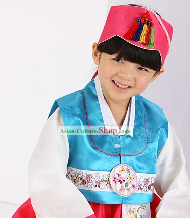Traditional Korean Children Girl Birday Hanbok Clothing
