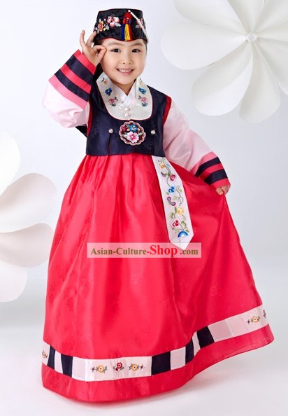 Traditional Korean Children Girl Birday Hanbok