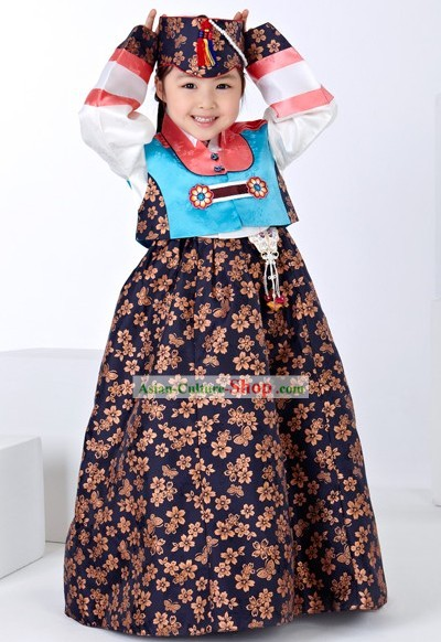 Traditional Korean Children Girl Birday Hanbok Dress