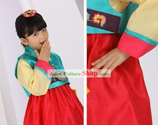 Traditional Korean Kids Birday Hanbok Dress