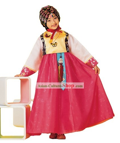 Traditional Korean Hanbok Everyday's Wear Clothing for Kids