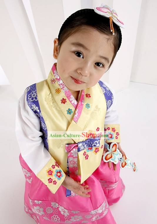 Traditional Korean Everyday's Wear Hanbok for Female Kids