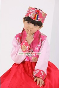 Traditional Korean Birthday Ceremony Hanbok for Kids
