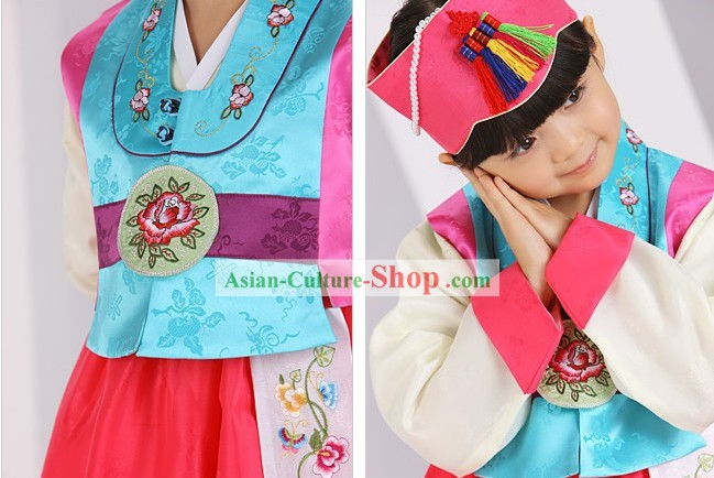 Traditional Korean Ceremonial Birthday Hanbok for Kids