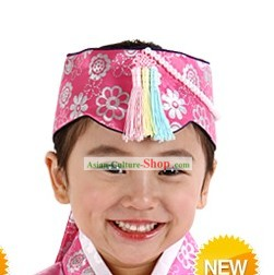 Traditional Korean Hanbok Hat for Girls