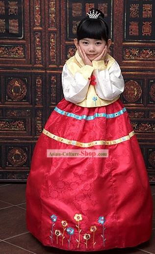 Traditional Korean Children Birthday Hanbok Clothing