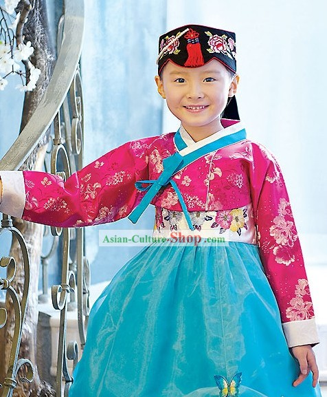 Traditional Korean Children Ceremonial Birthday Hanbok Clothing