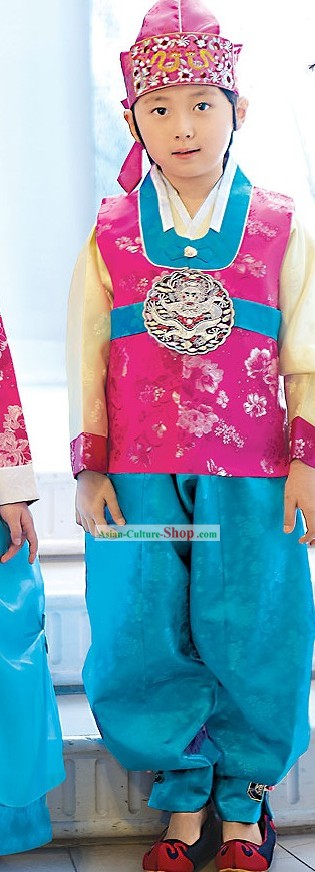 Traditional Korean Children Ceremony Birthday Hanbok Clothing