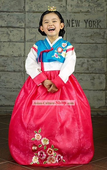 Traditional Korean Children Hanbok for Little Girls