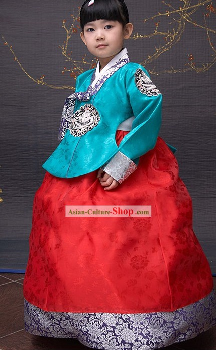 Traditional Korean Girl National Clothing