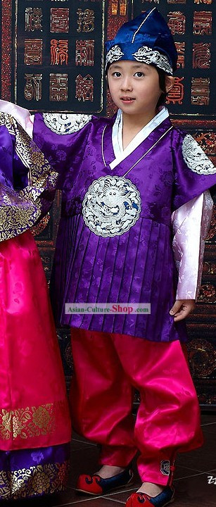 Korean Royal Ceremonial Hanbok for Children