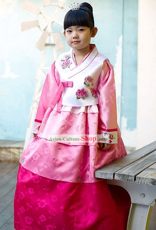 Traditional Korean Children Modern Hanbok for Girls