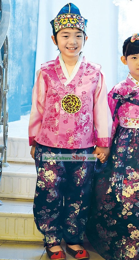 Traditional Korean Children National Costumes for Boys
