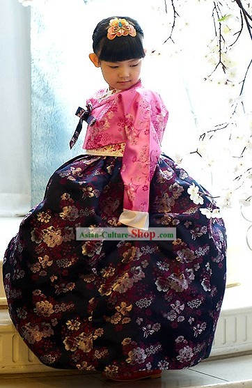 Traditional Korean Children National Costumes for Girls