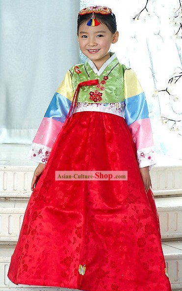 Traditional Korean Children Ceremonial Hanbok Clothing