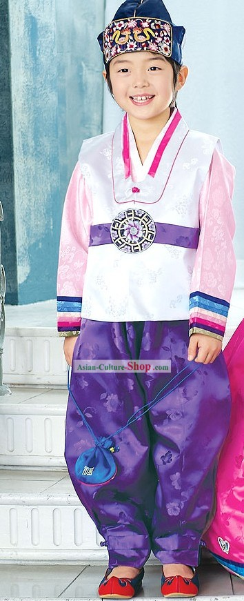 Traditional Korean Children Boy Clothing