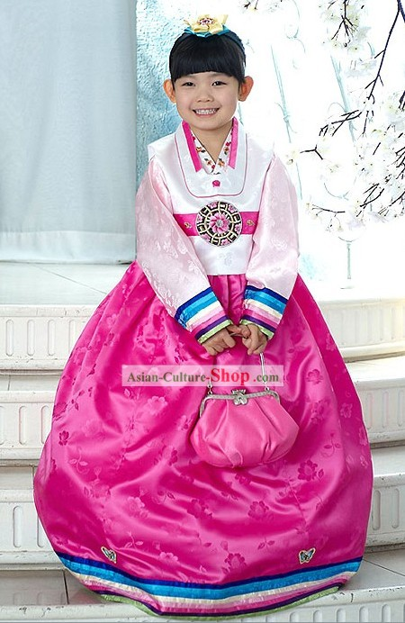 Traditional Korean Children Girl Clothing