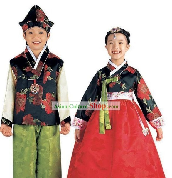 Traditional Korean Costume 2 Sets for Kids