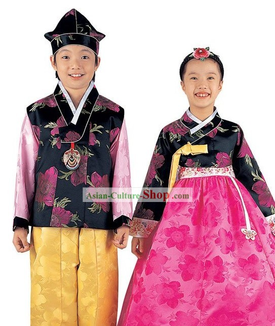 Traditional Korean Clothing 2 Sets for Kids