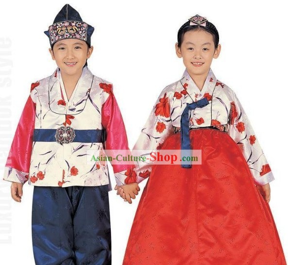 Traditional Korean Clothes 2 Sets for Kids