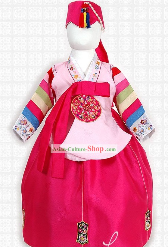 Traditional Korean Ceremonial Clothing for Kids