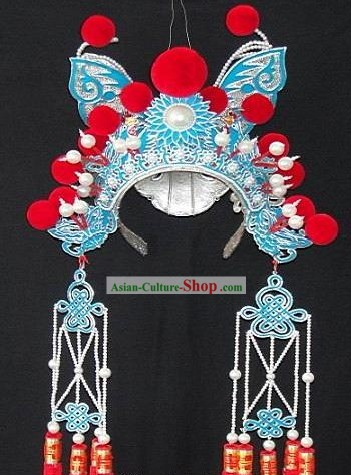 Traditional Chinese Beijing Opera Butterfly Cap