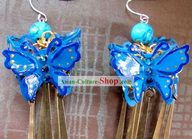 Traditional Chinese Hanfu Butterfly Earrings