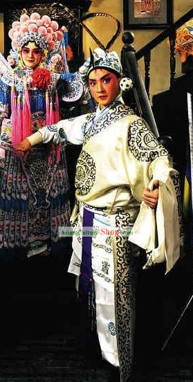 Chinese Peking Opera Wusheng Costumes Full Set
