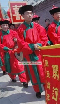 Chinese Sedan chair Bearer Costumes for Men