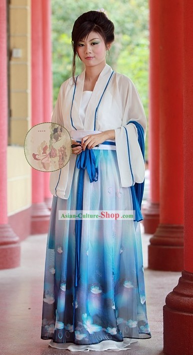 Chinese Hanfu Girl Clothing Set