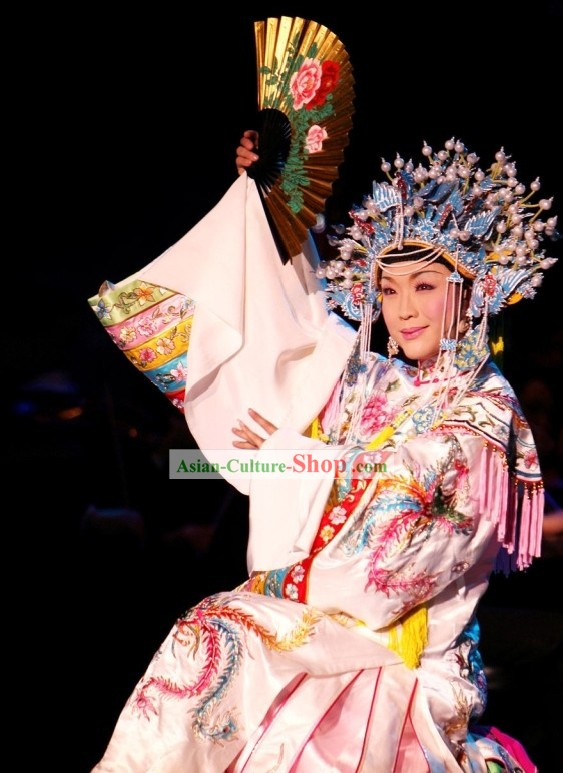 Chinese Opera Stage Performance Empress Costumes and Coronet Set