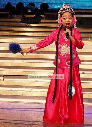 Chinese Yuju Opera Dan Costumes Set for Children
