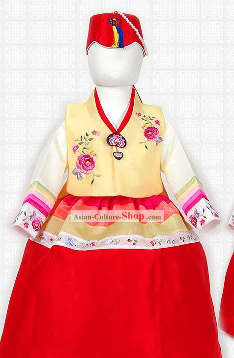 Traditional Korean Ceremonial Girl Clothing